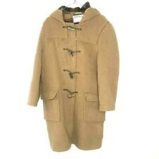 ORVIS Wool Blend Over Coat Classic Long Trench Coat/Jacket Beige Mens Size Large