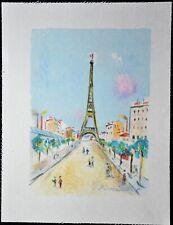 """LITHOGRAPHIE Maurice UTRILLO"""" Paris capitale  ,  La Tour Eiffel """""""