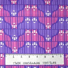 Animal Fabric - Eleanor Zoo Menagerie Pink & Purple Lions - Free Spirit YARD