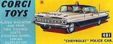 Corgi Chevrolet Vintage Manufacture Diecast Cars
