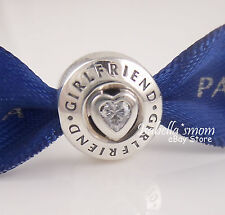 GIRLFRIEND Authentic PANDORA 925 Silver FOREVER FRIENDSHIP Heart Charm/Bead NEW
