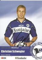 Christian Schwegler - Arminia Bielefeld - Saison 2005/2006 - Autogrammkarte