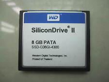 WD   CF  SSD-C08GI-4300 SiliconDrive II CF 8GB Compact Flash PATA SSD