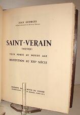 GEORGES (J.) - Saint-Verain Nièvre. Ville forte au Moyen-Âge - Relié - Nivernais