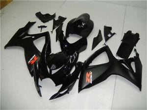 UK Black Injection Mold Fairing Fit for Suzuki GSXR 600 750 2006 2007 o004