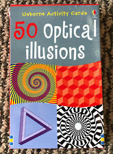 50 x OPTICAL ILLUSIONS - ACTIVITY CARDS - Usborne - These will drive you mad!