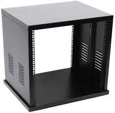 ROADINGER Stahl Rack SR-19, 8 HE schwarz, Server Studio Netzwerk Tisch Rack NEU