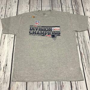 2005 Super Bowl XXXIX Reebok Gray T-Shirt Mens XL New England Patriots