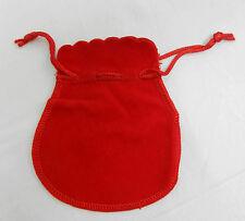 Red Velvet Drawstring Pouch / Gift Bag / Spell Bag - 11cm x 9cm