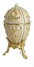 Copie oeuf de Fabergé blanc -Boite a musique -  Artisanat Russe