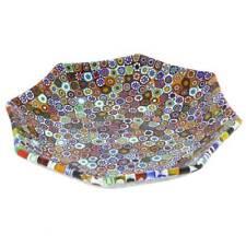 GlassOfVenice Murano Millefiori Octagonal Plate - Multicolor