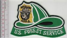 Smokey the Bear USFS Hot Shot Wildland Fire Crew Helmet Patch US Forest Service