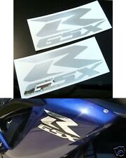 "Set Of 2 - Chrome Suzuki GSXR 600/750/1000/1100 Decals/Stickers - 3""x7"""