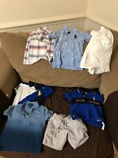 Baby Boy Polo Ralph LAUREN 2T-3T POLOS LOGO SHORTS SHIRTS  7 ITEMS MIX