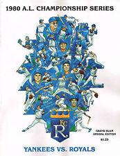 1980 NEW YORK YANKEES S Vs KANSAS CITY ROYALS ALCS BASEBALL PROGRAM