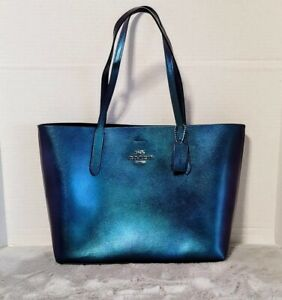 Coach Avenue Nasa Leather Tote Hologram irridescent NEW with tags ! RARE
