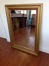 Gold framed Mirror with red boarder