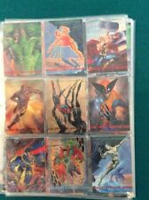 1993 Marvel Masterpieces complete base set plus all 8 dyna etch cards
