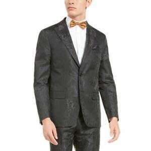 Tallia Mens Black Satin Slim Fit Dinner Jacket Blazer Sportcoat S BHFO 7009