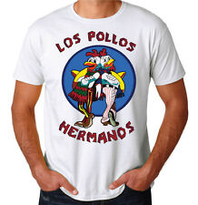 Los Pollos Hermanos Breaking Bad Heisenberg Drugs Tv Show Mens White T-Shirt