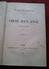 1882 OEUVRES DE LAMARTINE-LA CHUTE D'UN ANGE (EPISODE)-PARIS-HACHETTE et Cie