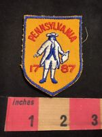 Vtg Red Letter Version Pennsylvania Statehood 1787 Patch - Colonial Dress 87NM
