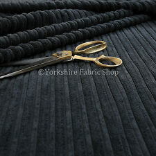Jumbo Corduroy High Low Plain Soft Texture Upholstery New Black Colour Fabric