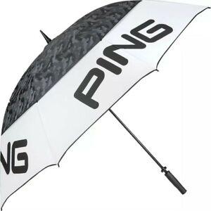 "New Ping Golf Tour Double Canopy 68"" Umbrella White/Black"