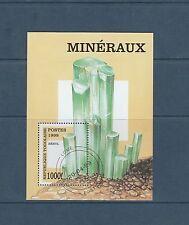 Togo bloc  roche et minéraux béryl    de 1999   num:  328D  oblitéré