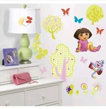Dora the Explorer Peel & Stick Wall Decals NICKELODEON 28 WALL DECALS- FREE SHIP