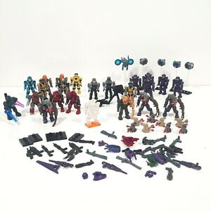 Halo Mega Bloks Figures Bundle & Weapons & More - Rare Figures