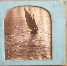 1850s Sail Boat Venice Italy Ocean Sea Hold to Light Stereoview Albumen Photo