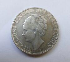 """2 1/2 Gulden 1932 Niederlande """"Königin Wilhelmina"""", silver coin"""