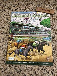 2007 BELMONT STAKES PROGRAM GEM MINT CURLIN HALL OF FAME RAGS TO RICHES FILLY