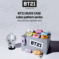 BTS BT21 Official Authentic Goods Buds Case Color Pattern Series By GCASE +Track