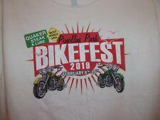 Pinellas Park Fl Bikefest Quaker Steak n Lube 2019 white M t shirt