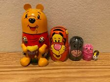 Russian Nesting Dolls Winnie the Pooh with Honey Pot Beautiful Set 5 pcs!