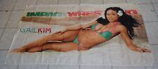 NWA TNA Impact Gail Kim Diva Knockout Wrestling Banner Flag WWE 5 x 3 Bikini WWF