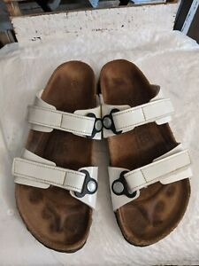 Birki's by Birkenstock Madura Double Strap white Patent Sandals Women's 30/8 N