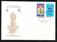 Germany DDR 1984 FDC cover Mi 2891-2892 Sc 2433-2434 Leipzig Fair