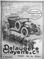 AD PRINT Original 1913 - Automobiles DELAUGÈRE and CLAYETTE Robust car