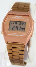 Casio Men's Rose Gold Stainless Steel Digital Flash Alert Watch B640WC-5A New
