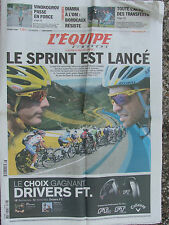 L'Equipe du 18/7/2010 - Tour de France - Diarra à l'OM ?