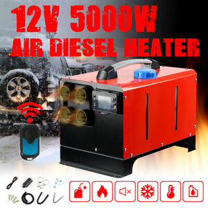 12V 5KW Air Diesel Heater 4 Holes LCD Display for Car Truck Motor-Home Boat UK