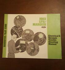 1983 Ford Car Shop Manual LTD Marquis Electrical Vacuum Trouble Shooting Repair