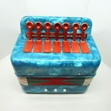 Goodlin Children's Mini Accordian New In Box With Manual Lovely Turquoise Color