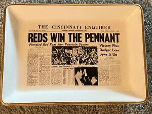1961 CINCINNATI REDS World Series Champions 7.5 x 5.5 ASHTRAY Compare at $140.00