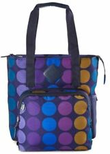 BUILT NY Lunchpack Verdi Tote Bag, Removable Insulated Lunch Bag Plum Dot