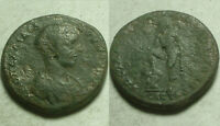 Rare Genuine Ancient Roman coin Diadumenian 4 Assaria Nikopolis ad Istrum Hermes