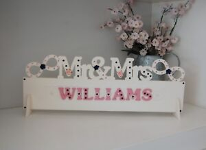 Mr & Mrs Wedding Sign MR AND MRS Top Table Decoration all colours ANY SURNAME